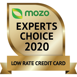 Mozo Experts Choice 2020 Low Rate Credit Card